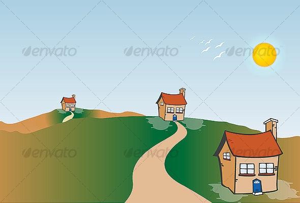Home - House - Village - Miscellaneous Vectors