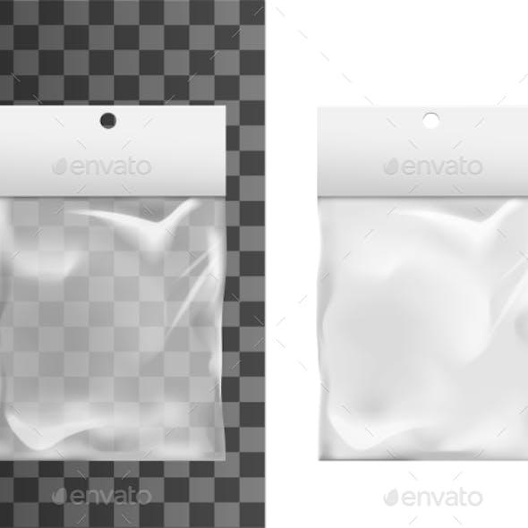 Transparent Plastic Pocket Bag, Package Mockup