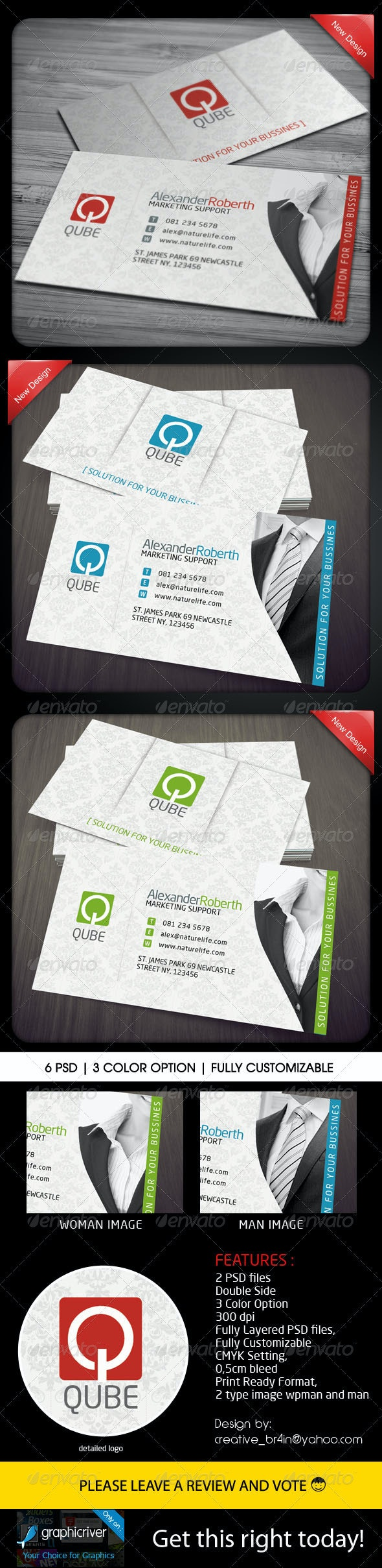 Corporate Bussines Card - Man and Woman - Corporate Business Cards