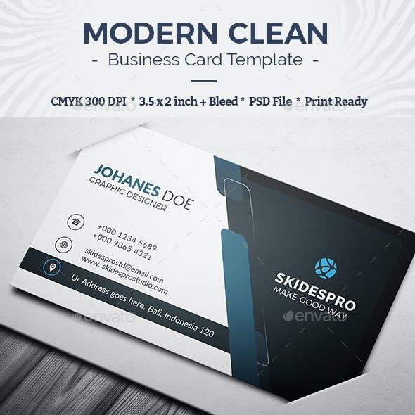 Modern Clean Business Card