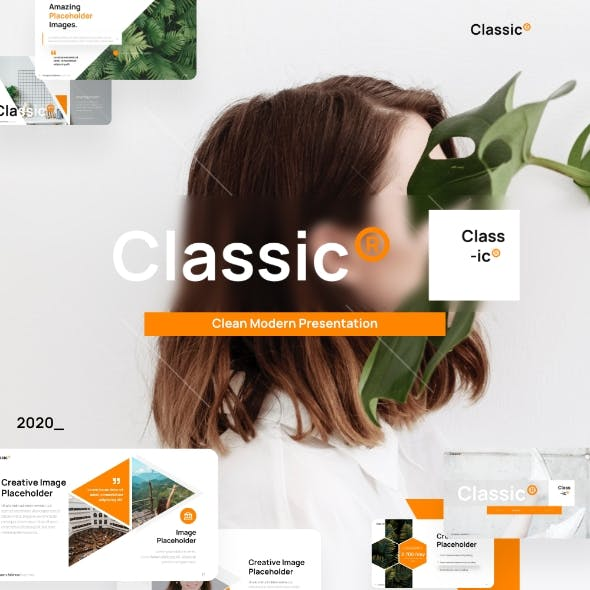 Classic Modern Powerpoint Presentation Template Fully Animated