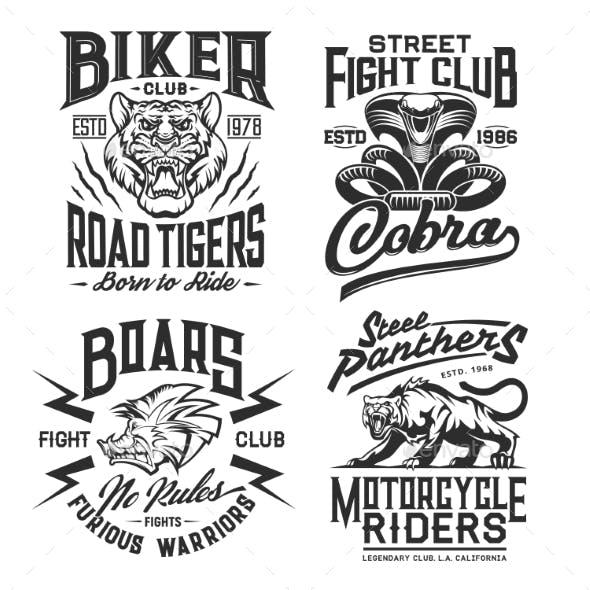 Tiger, Panther, Cobra, Boar T-shirt Print Mockup