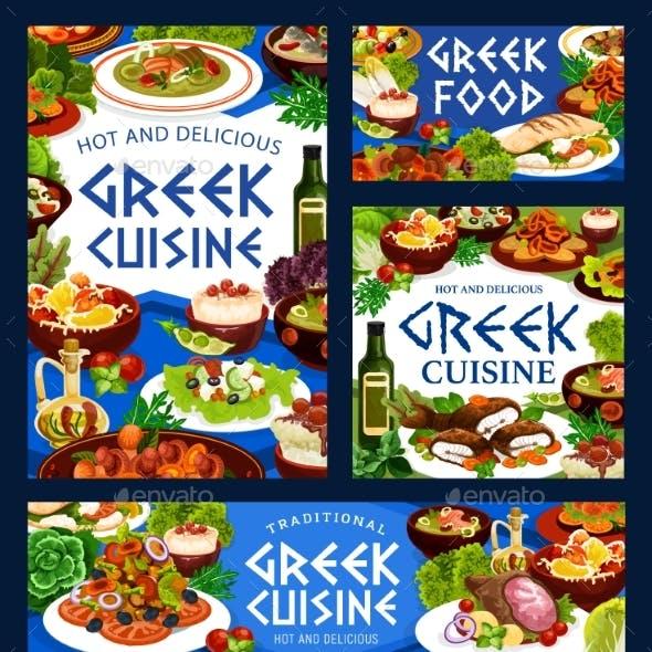 Greek Cuisine Food, Vegetable, Fish, Meat, Seafood