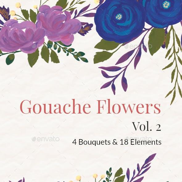 Gouache Flowers Vol 2