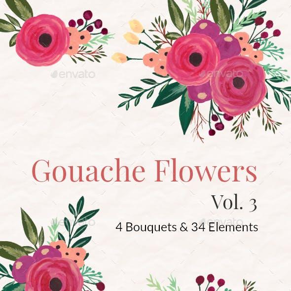 Gouache Flowers Vol 3