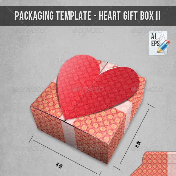 Packaging Template - Heart Gift Box II