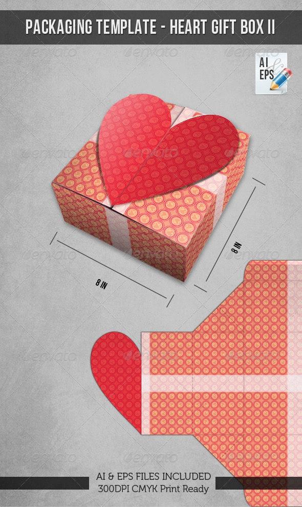Packaging Template - Heart Gift Box II - Packaging Print Templates