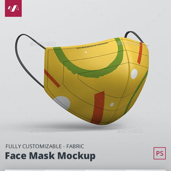 Face Mask Mockup - Fabric Mask