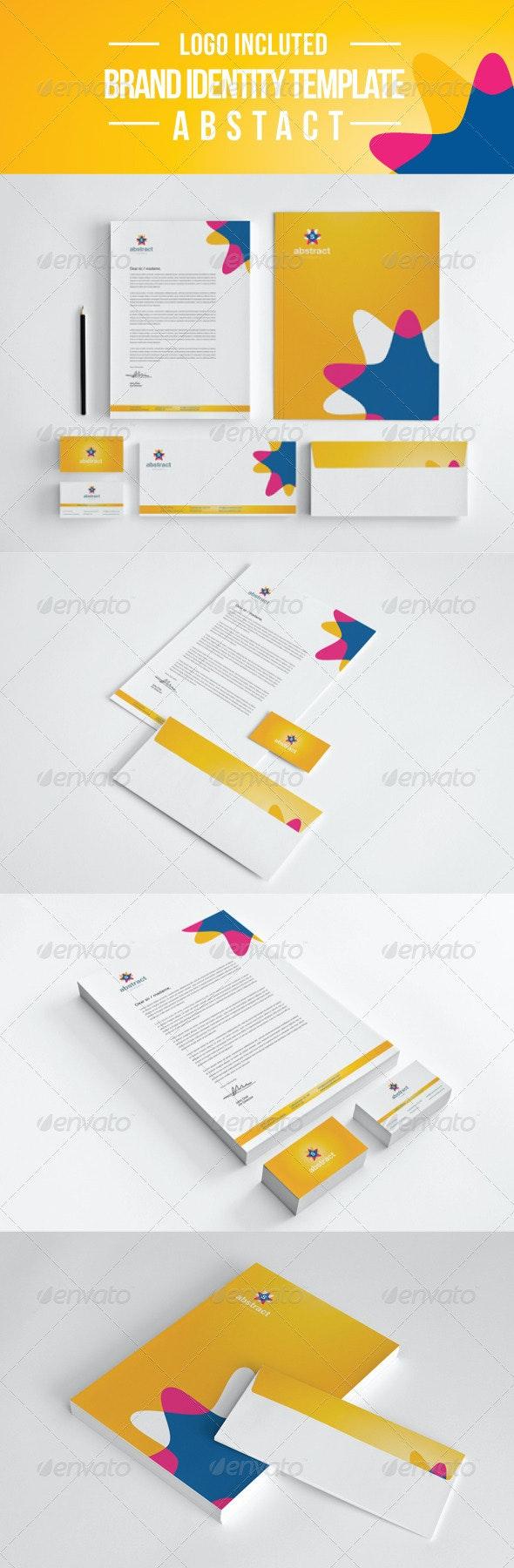 Abstract Company  Identity - Stationery Print Templates