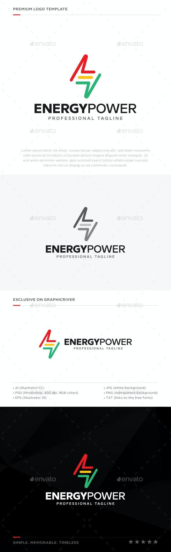 Energy Power Logo - Symbols Logo Templates