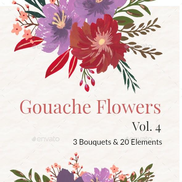 Gouache Flowers Vol 4