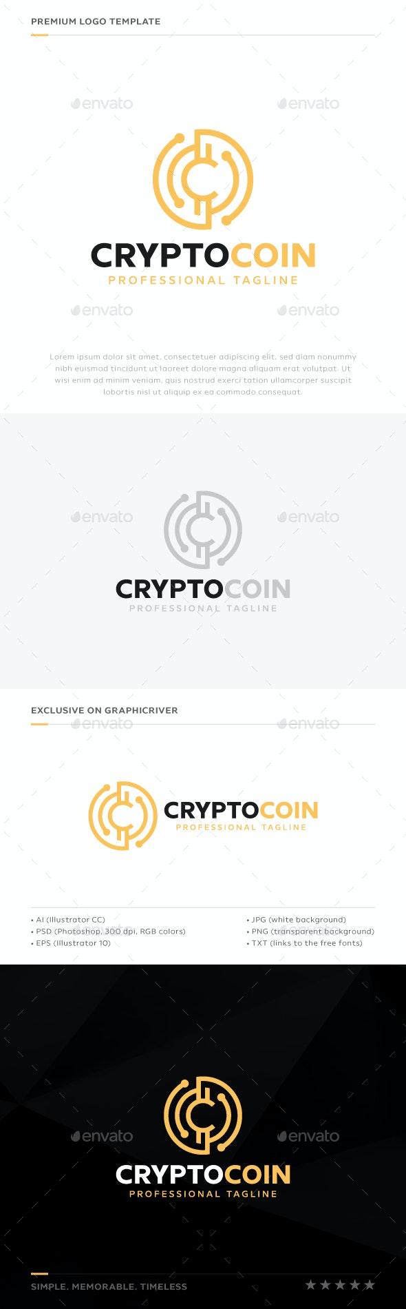 Crypto Coin Logo - Symbols Logo Templates