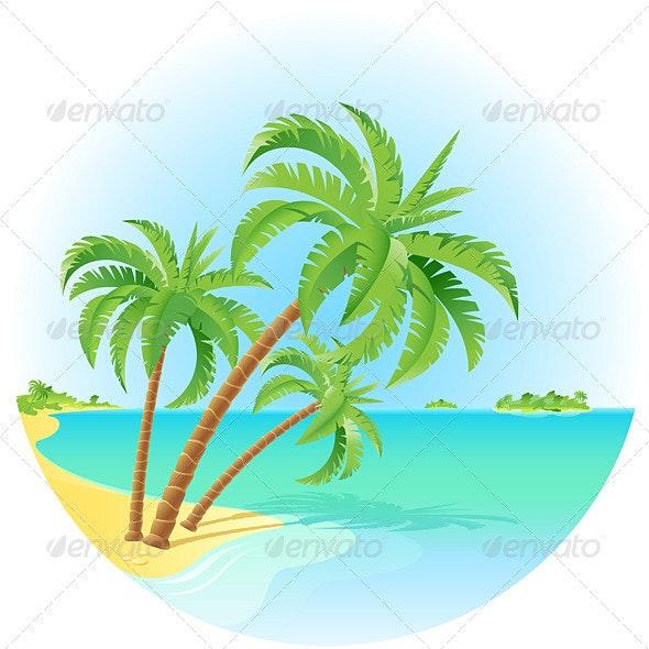 Tropical island - Travel Conceptual