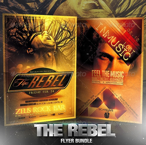 The Rebel Flyer Bundle - Flyers Print Templates