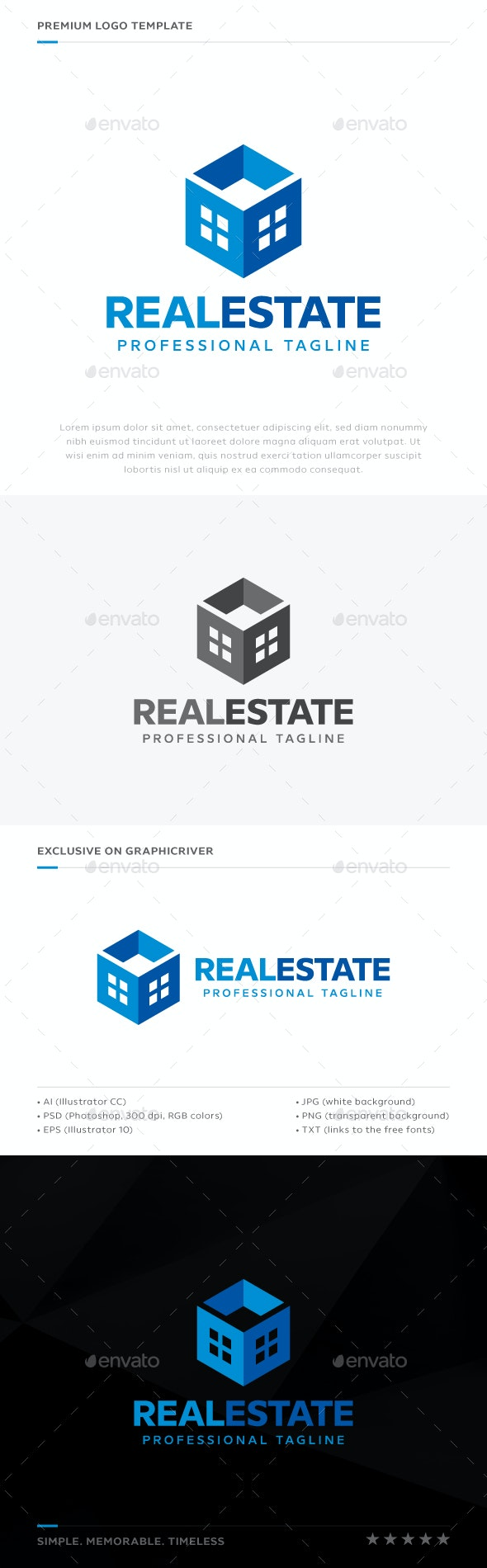 Real Estate Logo - Abstract Logo Templates