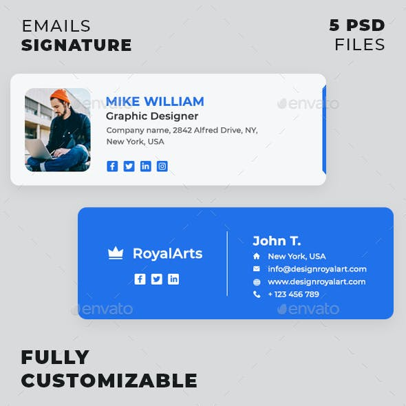 Email Signature Graphics Designs Templates From Graphicriver