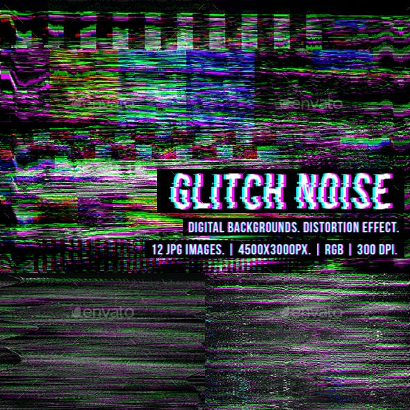 Glitch Noise Digital Glitches Backgrounds