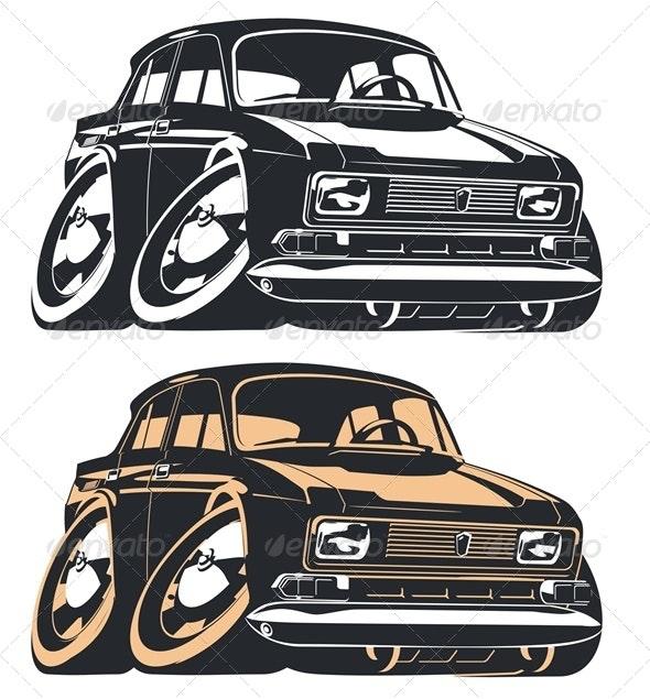 Vector Cartoon Car - Miscellaneous Characters