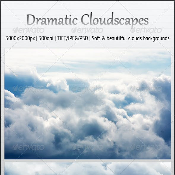 Dramatic Cloudscapes - 7 Soft Backgrounds