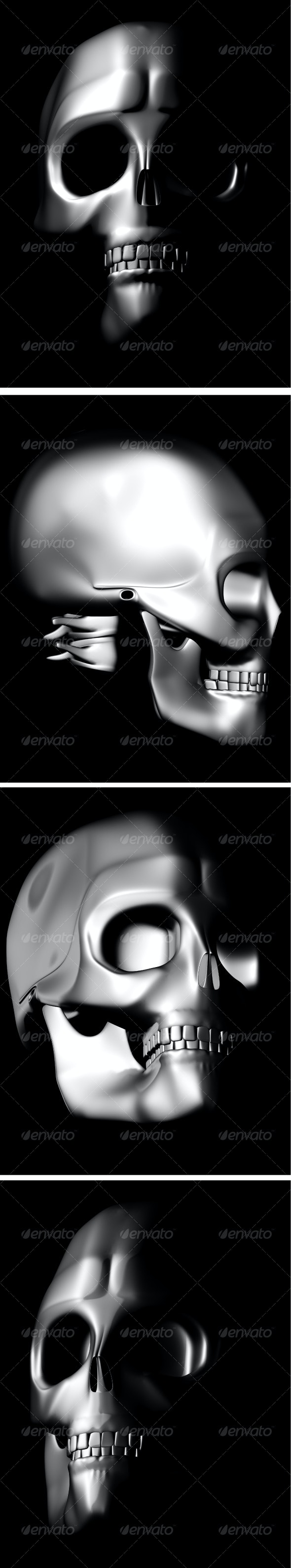 iron skulls,... - Characters Illustrations