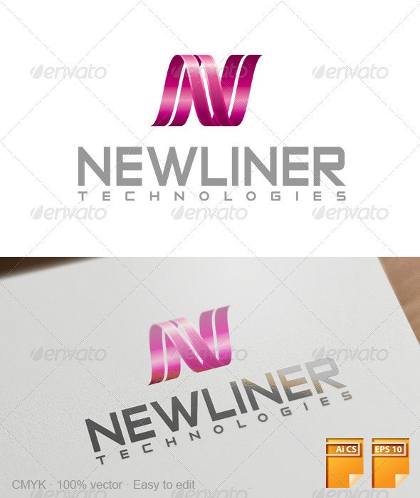 Newliner Logo - Letters Logo Templates