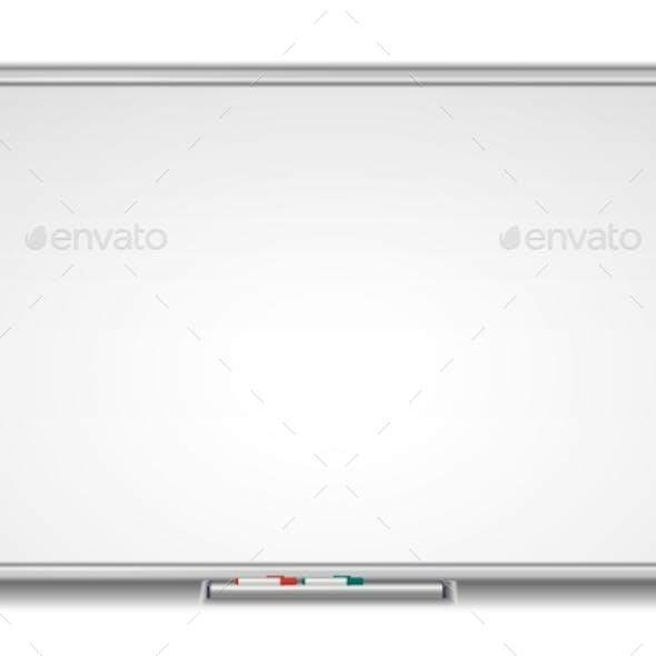 Whiteboard Marker White School Board Realistic