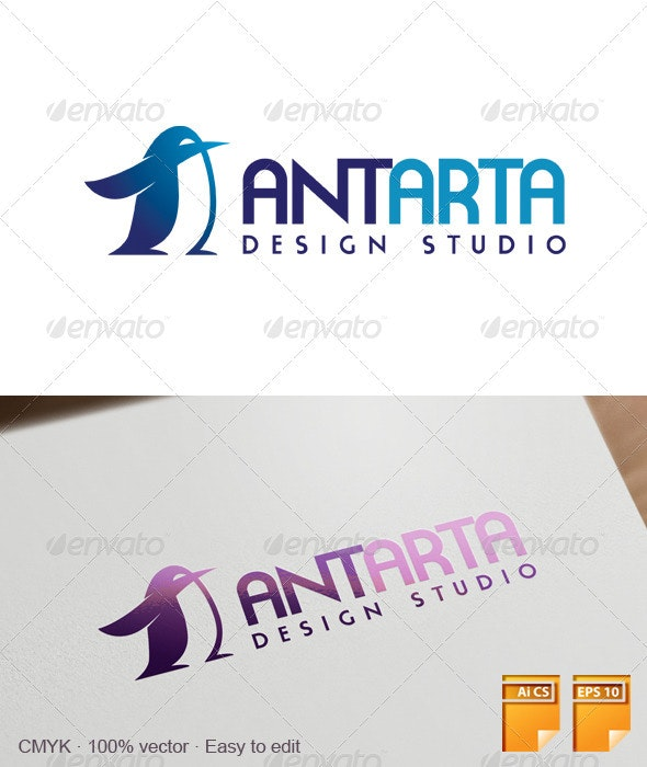 Antarta Logo - Animals Logo Templates