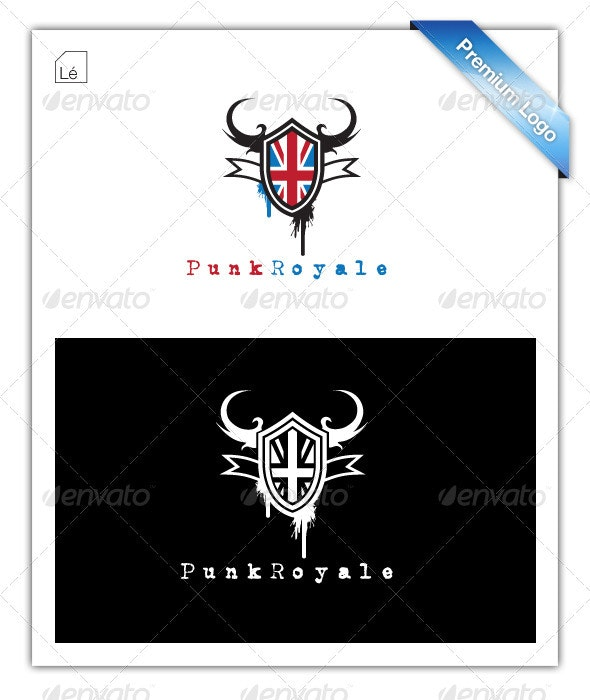 Punk Crest Flag Royal Logo