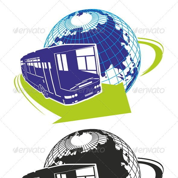 Vector Tour Bus as a Logo