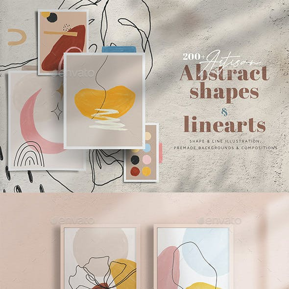Artisan Abstract Shapes & Line Art