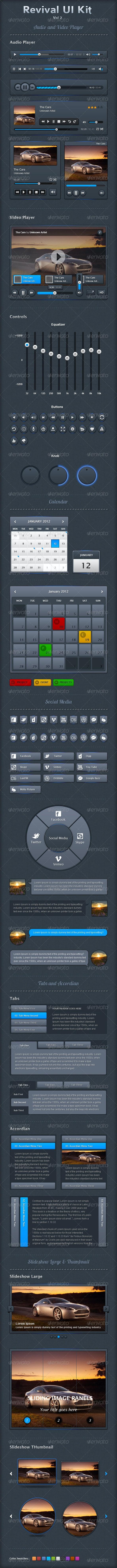 Revival UI Kit Vol 2 - User Interfaces Web Elements