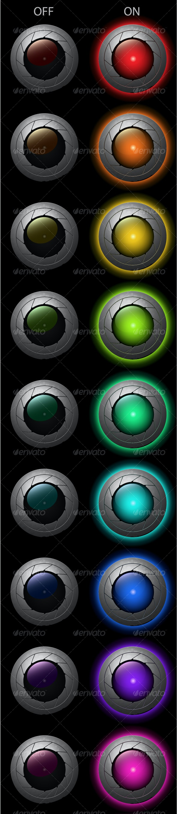 """set of """"on"""" and """"off"""" lights - Technology Conceptual"""