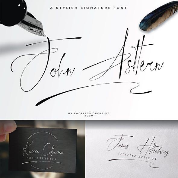 John Asttern - Signature Font
