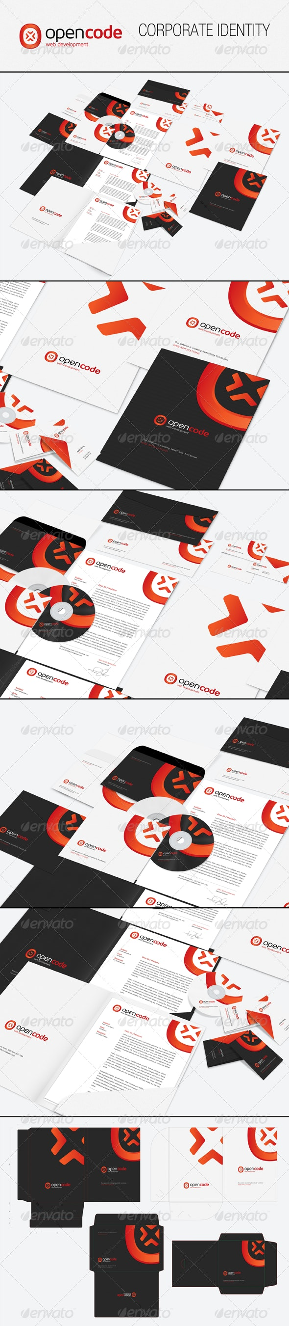 Open Code Corporate Identity - Stationery Print Templates