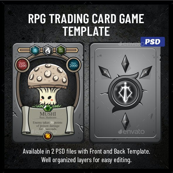 Card Game Template Graphics Designs Templates