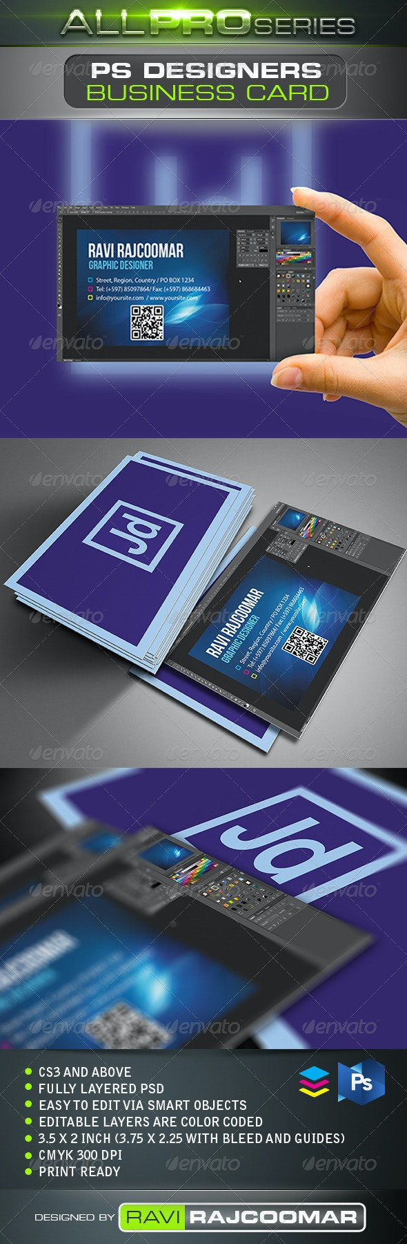 PS Designers Business Card - Creative Business Cards