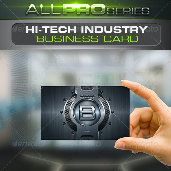 Hi-Tech Industry Business Card