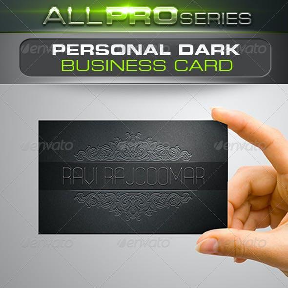 Personal Dark Business Card