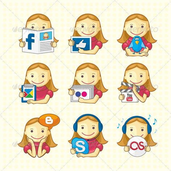 Design Elements - Set Of Social Icons