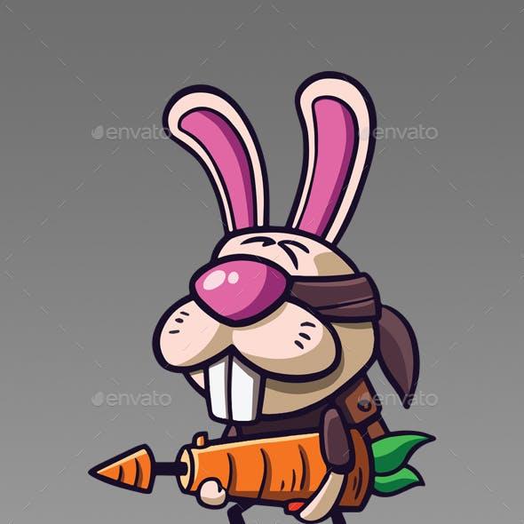 The Carrot Gunner - Rabbit Character Design