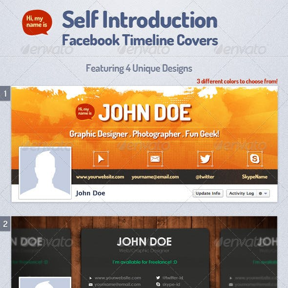Self Intro Facebook Timeline Covers
