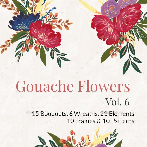 Gouache Flowers Vol 6