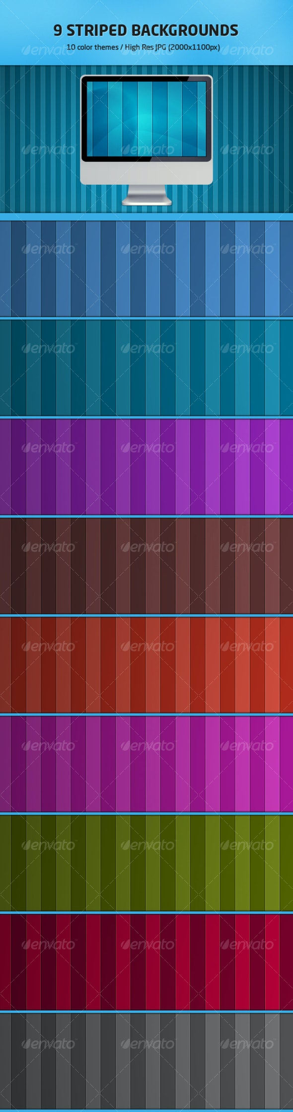 9 Striped Backgrounds - Backgrounds Graphics
