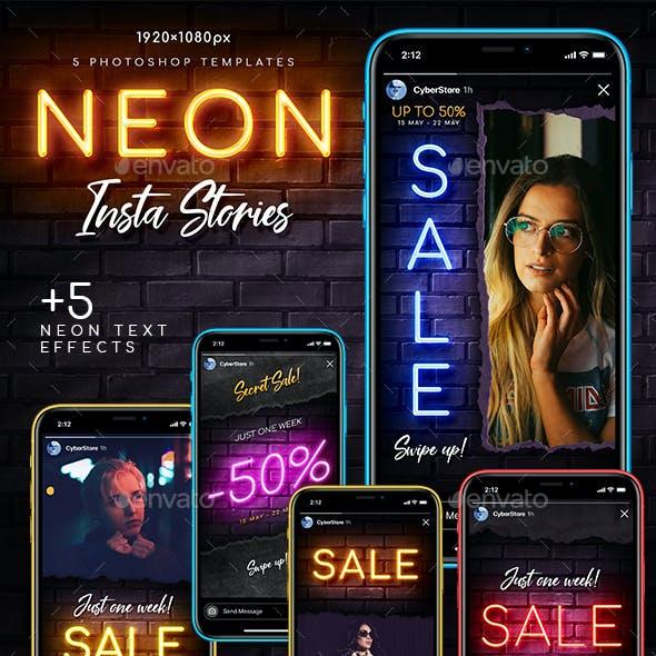 Neon Sale Instagram Stories