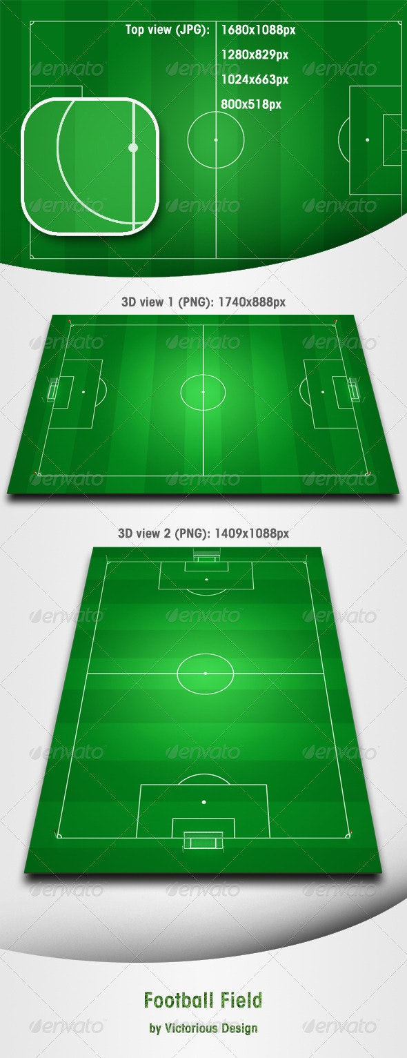 Football Field - 3D Backgrounds