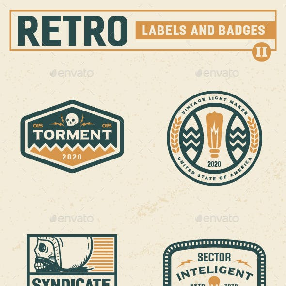 Retro Label and Badges Vol 2