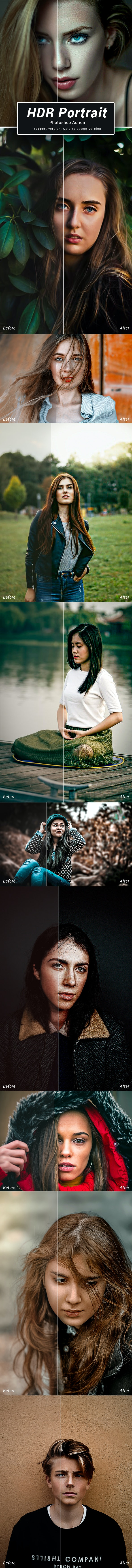 HDR Photoshop Action - Photo Effects Actions