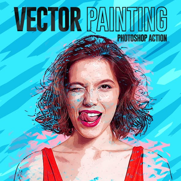 Vector Painting Effect Photoshop Action by ridvanpars | GraphicRiver