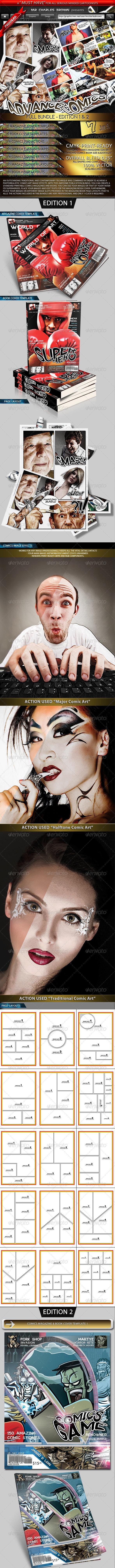 Advance Comics Publication Kit - Full Bundle - Magazines Print Templates