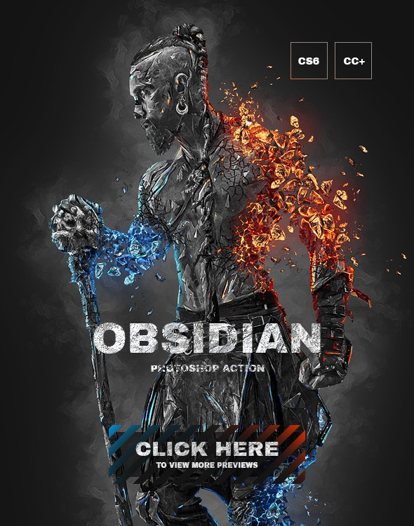 Obsidian Photoshop Action - Photo Effects Actions